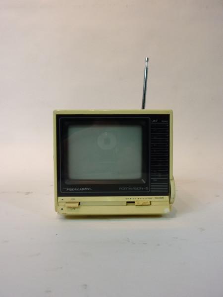 2: White Portable Mini 1980's TV