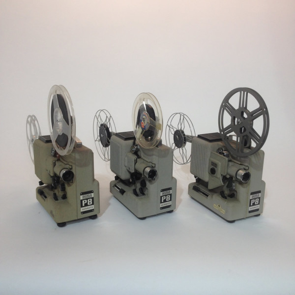 3: Set of 3 Matching Eumig 8mm Film Projectors