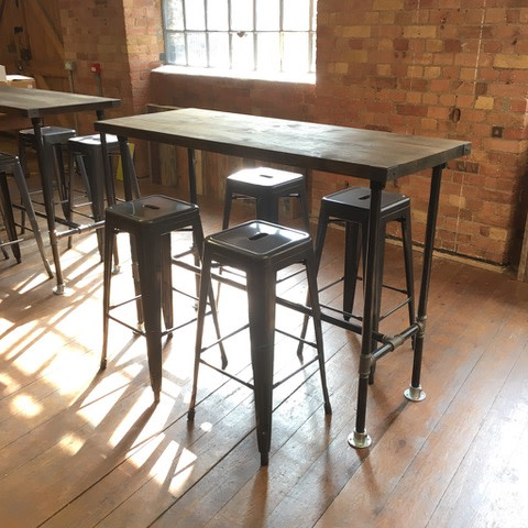 3: Vintage Industrial Style High Poseur Tables