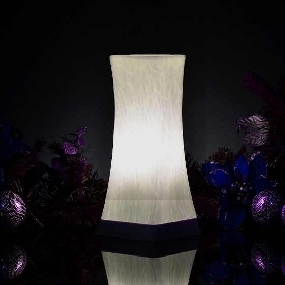 4: Cordless Table Lamp - Decorative Glass Design