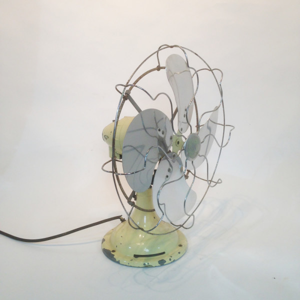 1: Small Industrial desk fan - Cream
