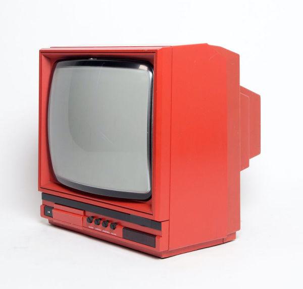 3: Non practical red portable Ferguson 14C2 TV