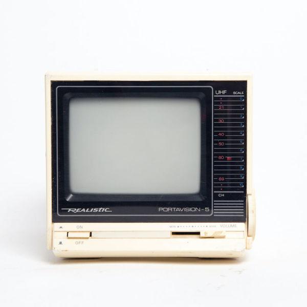 1: Non practical mini portable Realistic Portavision-5 TV