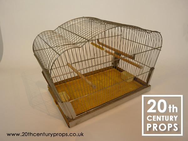 1: Vintage chrome bird cage