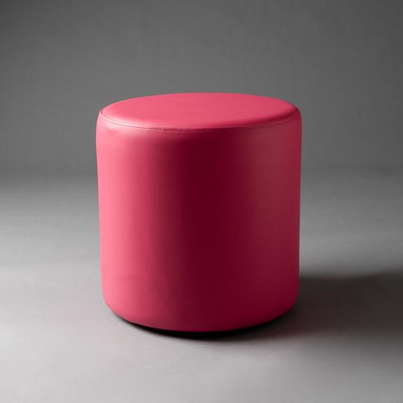 2: Small Pink Round Pouf