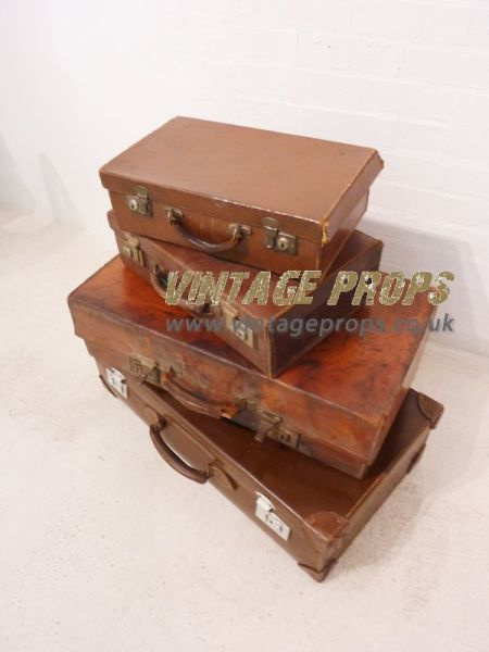 1: Leather Suitcases