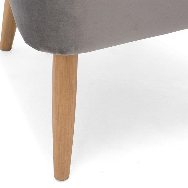 4: Velvet Cocktail Chair, Grey