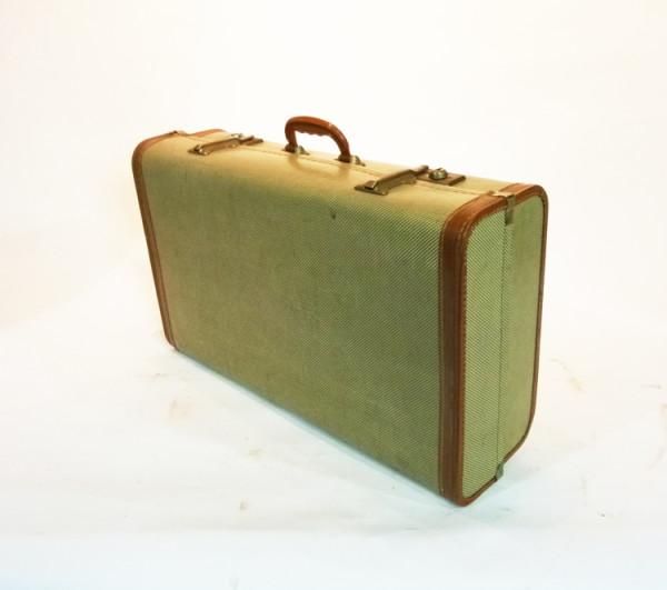 5: Cream Wood Finish Suitcase