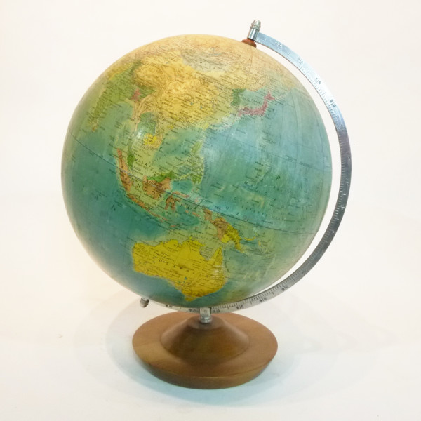 1: Large glass vintage globe