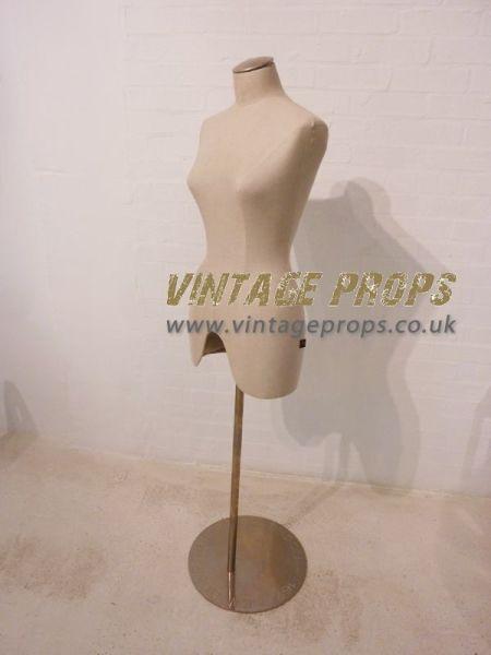 1: Vintage style female dressmaker mannequin