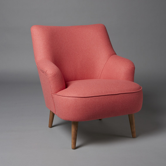 3: Cocktail armchair - Coral