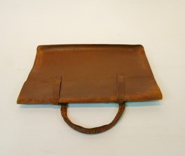 4: Brown Thin Leather Satchel