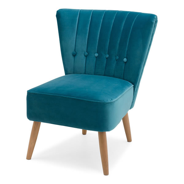 3: Velvet Cocktail Chair - Teal