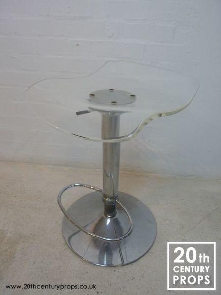 2: Retro chrome and acrylic pump action  stool