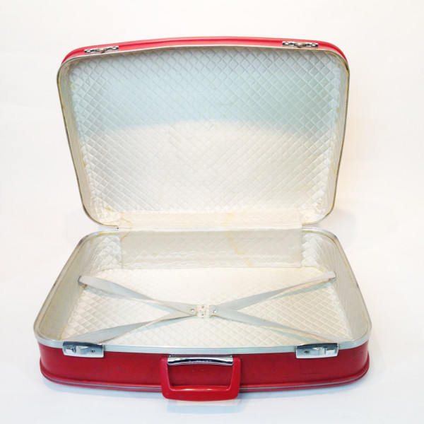 5: Red Hard Shell Suitcase