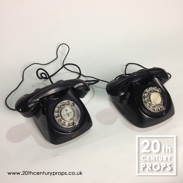 2: Pair of vintage bakelite GPO  telephones