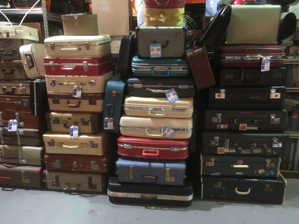 1: Stacks of Vintage Luggage