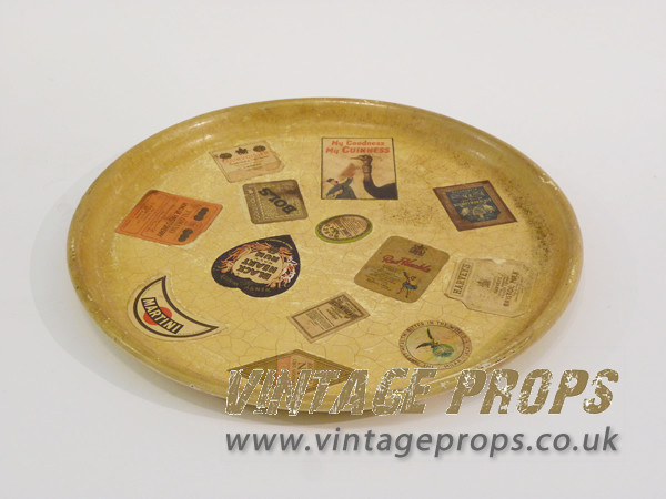 1: Vintage Drinks Tray