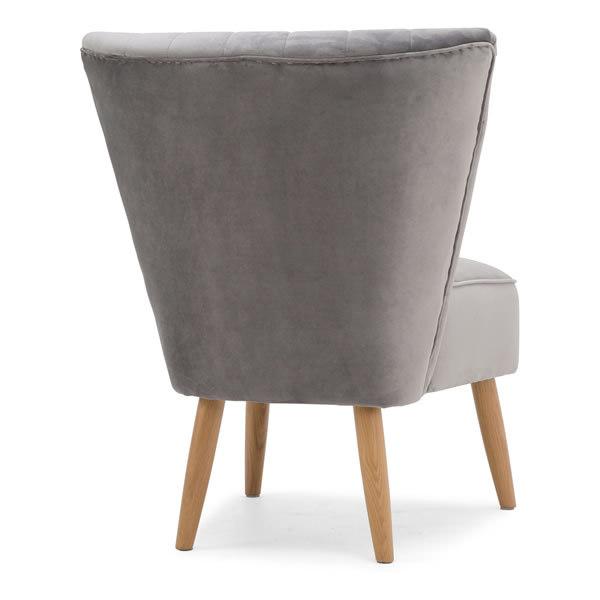 7: Velvet Cocktail Chair, Grey