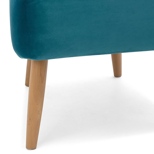 4: Velvet Cocktail Chair - Teal