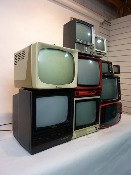 2: Stack of Retro CRT Televisions
