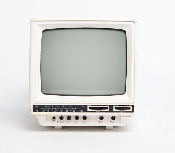 1: Non practical Sony mini portable white TV