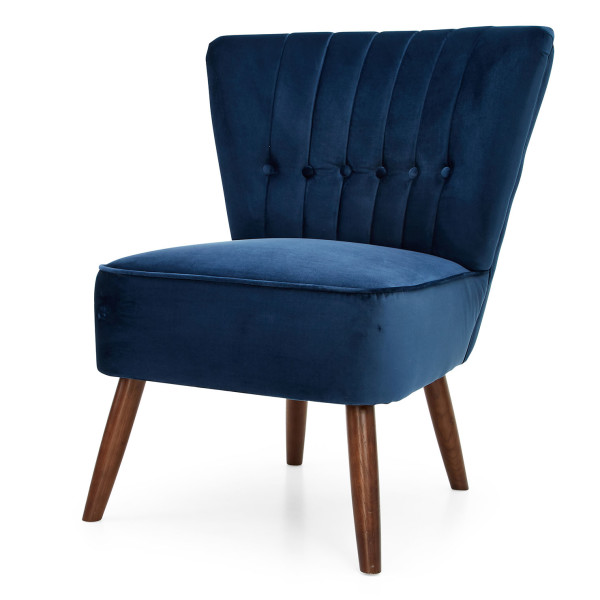 8: Velvet Cocktail Chair - Midnight Blue