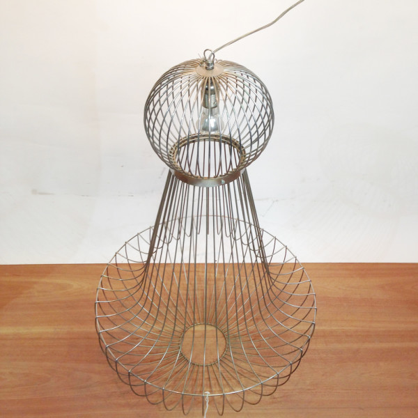 2: Large Wire Frame Chandelier