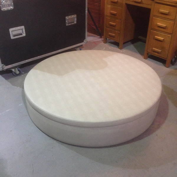 3: Large Circular Daybed / Pouf
