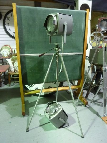 1: Vintage 'STRAND ELECTRIC' Industrial Spotlights
