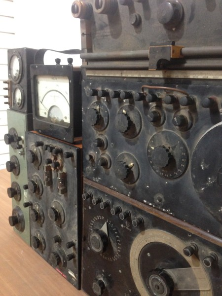 1: Vintage electrical control panels