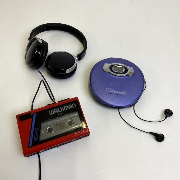2: Retro Sony walkman with earphones