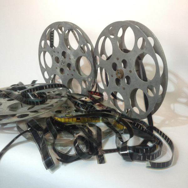 3: Large Metal 35mm Film Reels