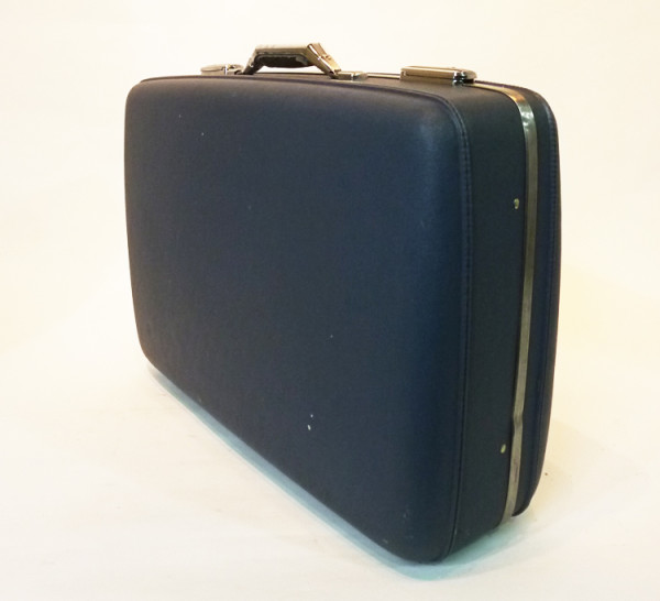 3: Dark Blue Hard Shell Retro Suitcase