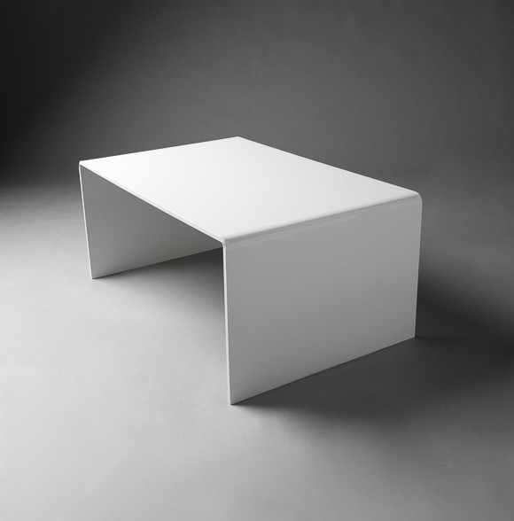 2: White Perspex Table