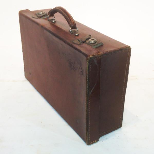 4: Dark Brown Leather Suitcase 2
