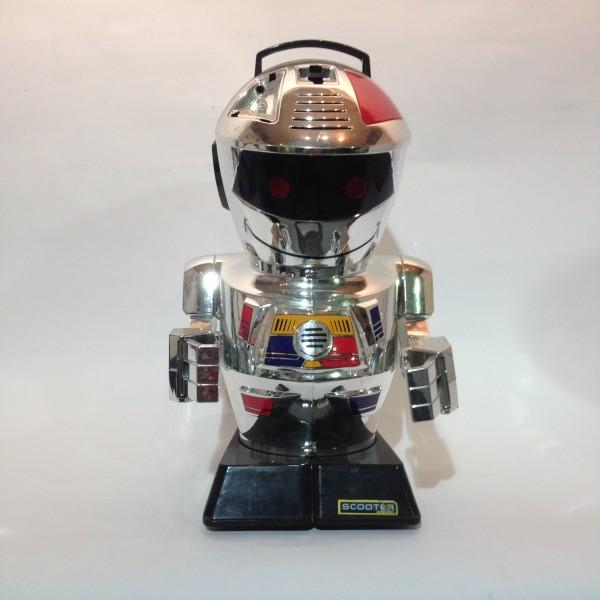 4: Large silver robot