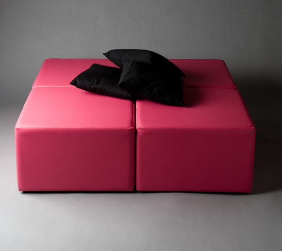 2: Pink Squared Daybed