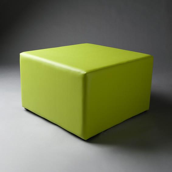 2: Large Green Square Pouf