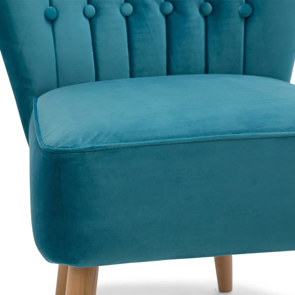 5: Velvet Cocktail Chair - Teal
