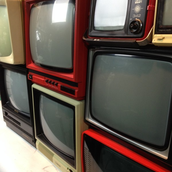 3: Stack of Retro CRT Televisions