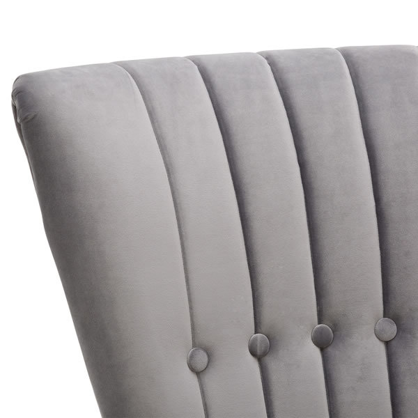 6: Velvet Cocktail Chair, Grey