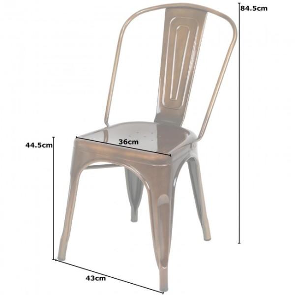 6: Copper Metal Outdoor Chair