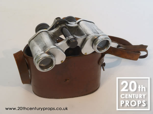 1: Vintage polished chrome binoculars