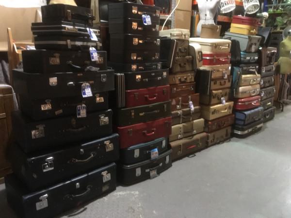 3: Stacks of Vintage Luggage