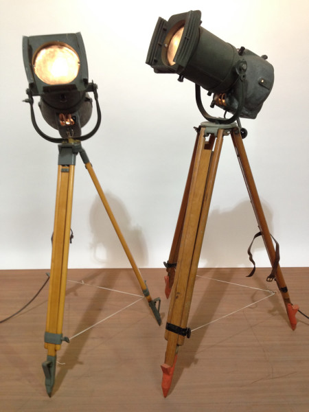 2: Vintage Industrial Spotlight with Long Lenses
