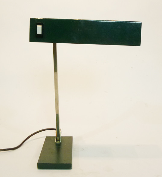 1: Black Angular Low Light Desk Lamp