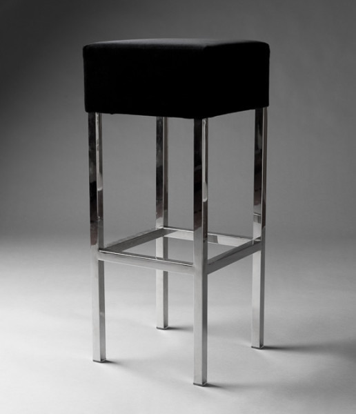 3: Black Padded Stool