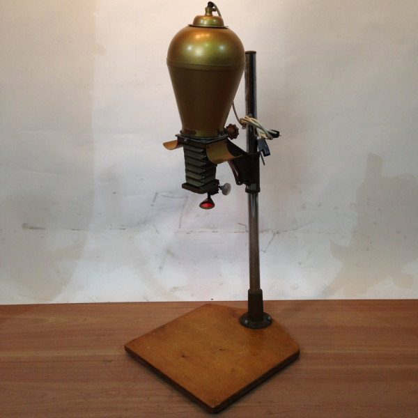 2: Brass Coloured Overhead Photographic Slide Projector/Enlarger