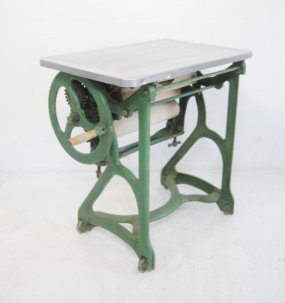 3: Industrial desk with polished aluminium top